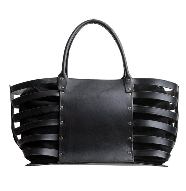 Posidonia I Leather Basket Bags I Handmade in Spain I Ángela Martí