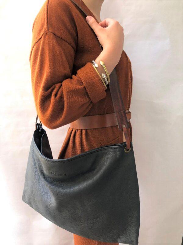 Black leather Yasmina